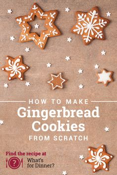 Use our easy step-by-step video guide to create picture-perfect gingerbread cookies from scratch. No dessert table should be without this holiday classic! Candy Cookies, Holiday Cookies, Holiday Treats, Holiday Recipes, Christmas Recipes, Chip Cookies, Christmas Sweets, Christmas Cooking, Christmas Goodies