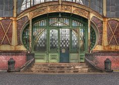 art nouveau machine shop door
