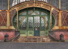 art nouveau machine shop door