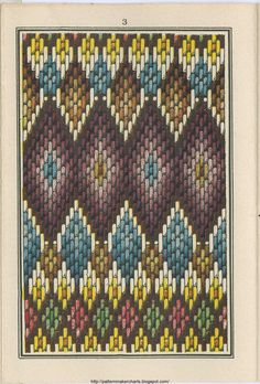 old bargello pattern -posible idea para tejido tipo tapiz