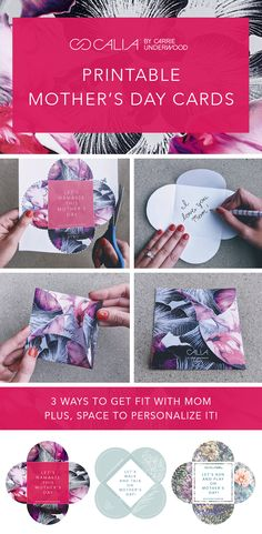 Easy-to-print Mother's Day cards from CALIA by Carrie Underwood.
