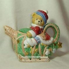 Cherished Teddies Laplander Collection Teapot 1996 #CherishedTeddies
