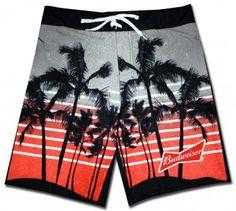 a0cfa41ebf Budweiser Board Shorts Palm Trees, Awesome Stuff, Swim Trunks, Palm Plants,  Palms