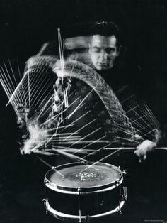 Drummer Gene Krupa Playing Drum