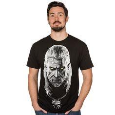 Le T-shirt avec les yeuc de Geralt ainsi que son médaillon qui brillent dans le noir...