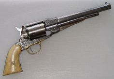 beautiful, engraved, mother of pearl gripped, Remington New Model Army