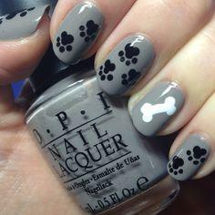 Puppy nails! via the Nail Trail blog