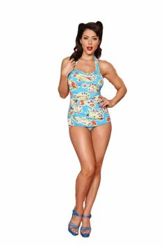 Amazon.com: Esther Williams Women's 50's Pin Up Swimsuit: Clothing