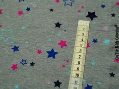 """Jersey """"bunte Sterne"""" kids Collection von MODEATELIER HILDEGARD auf DaWanda.com"""