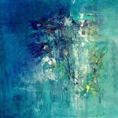 Meerestiefen 2, 2011, 100x100cm by Sonja Kalb