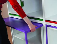 anyone one who lives in a small apartment or just loves great design need this bookshelf/dining table and chairs great colors as well, my apartment needs this for books and shabbat dinners