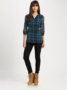 Preppy plaid chic by Burberry Brit