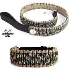 Realtree AP Camo 550 Paracord Dog Collar and Leash
