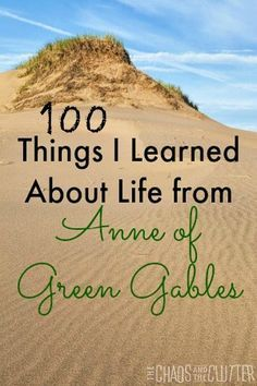 100 things I learned about life, love and parenting from Anne of Green Gables.If you never watched Anne of Green Gables growing up then damn. I Love Books, Good Books, Books To Read, Anne Auf Green Gables, Anne With An E, Anne Shirley, Kindred Spirits, Things To Know, Nerdy Things
