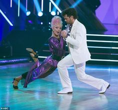 Tango time:The 41-year-old actor and Sharna, 35, earned 19 points out of a possible 30 for their performance to Everybody Wants To Rule The World by Tears For Fears