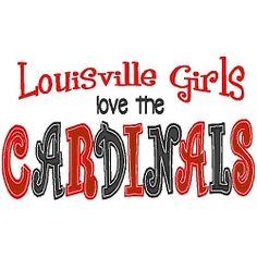Louisville Girls Cardinals Applique - 3 Sizes!   Words Applique Machine Embroidery Designs   Machine Embroidery Designs   SWAKembroidery.com