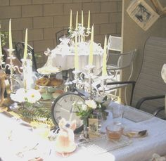 Mad Hatter Tea Party table idea
