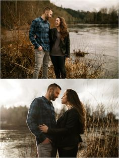 Couples photos taken along the Sandy River next to Lewis and Clark State Park, taken by Katy Weaver, a Portland Oregon based Wedding and Adventure Photographer