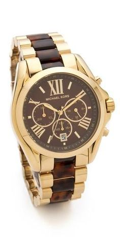 Tortoise and gold watch. Michael Kors love