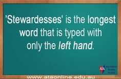 TESOL ESL [ English Facts ] The longest word that is typed with only the LEFT HAND.