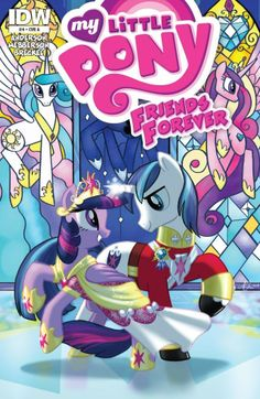 My Little Pony Friends Forever Written by Rob Anderson Art by me, colours by Heather Breckel Cover by me :) This is out TODAY from IDW publishing. Thought I'd post the cover so you can see the full. My Little Pony List, Hasbro My Little Pony, My Little Pony Friendship, Mlp Twilight, Princess Twilight Sparkle, Disney Stained Glass, My Little Pony Wallpaper, Homemade Stickers, Little Poni