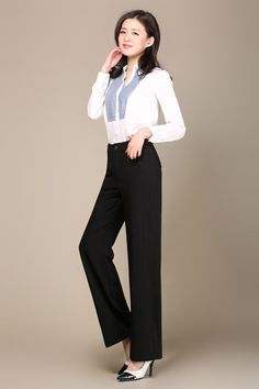 LA High Waist Wide Leg Pants