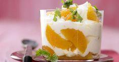 Clementinen-Joghurt mit Ingwer, Honig und Minze: Der aromatische und figurfreundliche Mandarinen-Joghurt liefert Eiweiß, Kalzium und Vitamine.