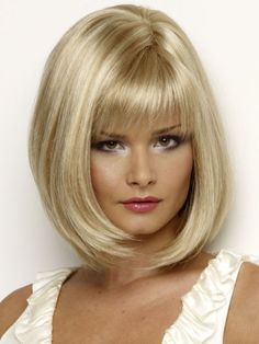 New Look Wigs®: Petite Paige Mono Part Wig - Balayage Haare Blond Kurz Face Shape Hairstyles, Bob Hairstyles, Braided Hairstyles, Long Bob Haircuts, Haircuts With Bangs, Monofilament Wigs, Creamy Blonde, Medium Long Hair, Natural Hair Styles