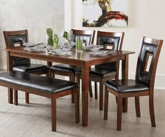 6-Piece Padded Dining Set with Bench at Big Lots.
