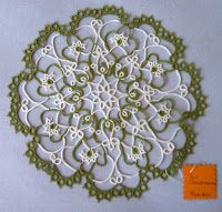 """The tattingplayer: Pattern DELIA from """"Tatted doilies"""""""