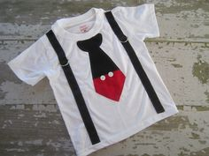 Mickey Mouse Inspired Tie and Suspender by littlemacboutique, $19.00