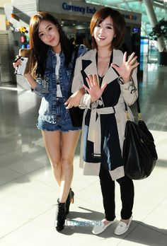 Nice Hyomin & Eunjung @ Incheon Int'l Airport