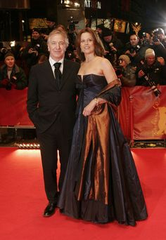 Alan Rickman and Sigourney Weaver at the 56th Berlinale International Film Festival on February 9, 2006.
