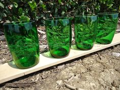 Perrier Bottle Glasses Set of 4 by ConversationGlass on Etsy
