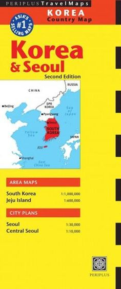 Periplus Travel Maps Korea Country Map: Korea & Seoul