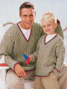 Our Guys' Sailing Sweaters | Yarn | Free Knitting Patterns | Crochet Patterns | Yarnspirations