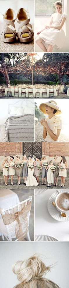 Neutral colors for wedding