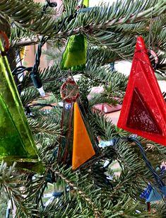 Cast glass Christmas ornaments by Heather Cuell   Effusion Art Gallery + Cast Glass Studio, Invermere BC Contemporary Decor, Modern Decor, Kiln Formed Glass, Glass Bar, Cast Glass, Glass Furniture, Canadian Art, Luxury Decor, Glass Christmas Ornaments