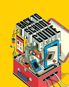 """""""Back to school guide"""" illustration - by Harry Campbell, via Behance #illustration"""