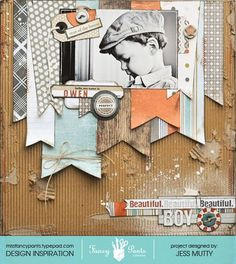 Gorgeous layout using Fancy Pants Designs Swagger range - designed by Jess on the Fancy Pants blog