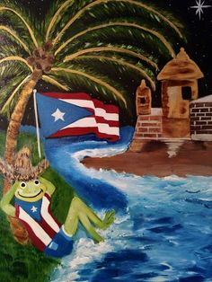 Puerto Rico Tattoo, Puerto Rico Pictures, Pics For Fb, Puerto Rico Island, Puerto Rican Flag, Puerto Rican Dishes, Puerto Rico History, Puerto Rican Culture, Hand Painted Canvas