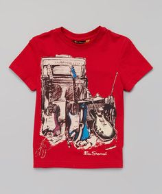 Another great find on #zulily! Ben Sherman Red Guitars & Amps Tee - Infant, Toddler & Boys by Ben Sherman #zulilyfinds