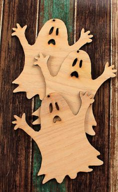 cute wooden ghost ornaments