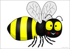 Giant bee picture for display (SB10391) - SparkleBox