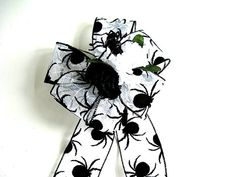 Halloween gift bow Black spider Halloween bow by jandavis2 on Etsy, $8.00