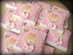 Barrinha de Chocolate Batom - personalizada no tema Ursa Princesa.  Pedido Mínimo: 15 unidades. R$ 5,20