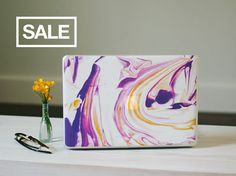 Hey, I found this really awesome Etsy listing at https://www.etsy.com/listing/233619913/marble-macbook-decal-purple-orange-and