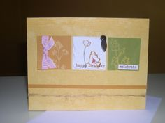 birthday- stampin up card