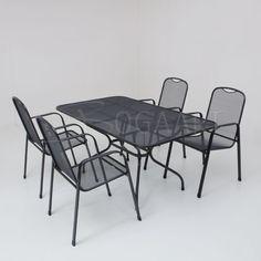 Kettler Burgos met strekmetalen tafel - 160x90cm