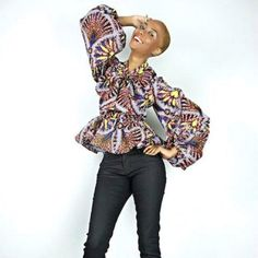 Print. Love the eclectic colors of this blouse